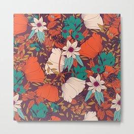 Botanical pattern 010 Metal Print