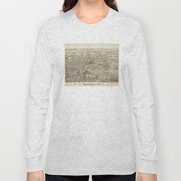 Vintage Pictorial Map of Decatur Illinois (1878) Long Sleeve T-shirt