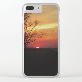 Sinking Sun in Brigantine Clear iPhone Case