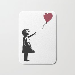 Girl With Red Balloon, Banksy, Streetart Street Art, Grafitti, Artwork, Design For Men, Women, Kids Bath Mat