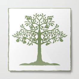 Pear Tree (Green) Metal Print