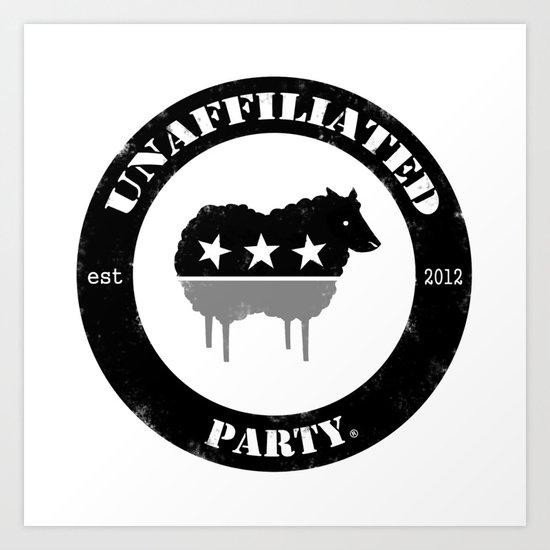 Unaffiliated Party Badge Art Print