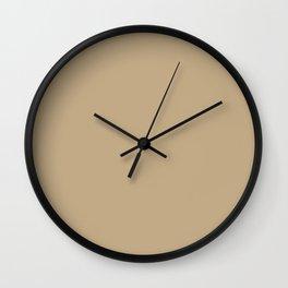PPG Glidden Desert Camel (Warm Tan / Beige) PPG12-16 Solid Color Wall Clock