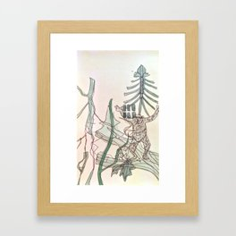 Little Monkey 2 Framed Art Print