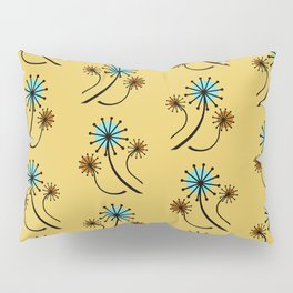 Mid Century Modern Dandelions on yellow Pillow Sham