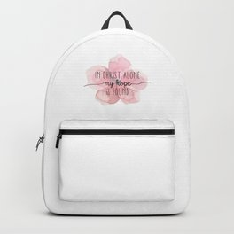 Christian Quote Watercolor Flower Backpack