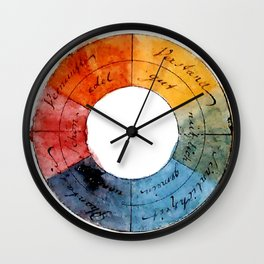 Goethe's Color Wheel (1809) Wall Clock