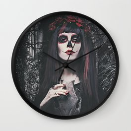 Catrina Day of the Dead Wall Clock