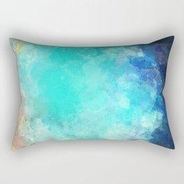 Watercolor Aerial View of Ocean Cove {Gold Coast} Rectangular Pillow