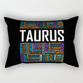 Taurus - Words Rectangular Pillow