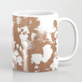 Rose Gold shiny metal sparkle modern pattern abstract rosegold trendy pattern cell phone accessories Coffee Mug