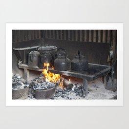 Camp oven Art Print