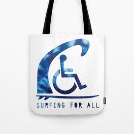 Baesic Surfing For All Tye Dye Tote Bag