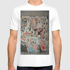 Urban art MEDIUM Mens Fitted Tee White