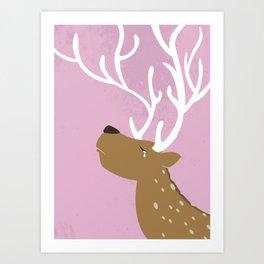 Crying Deer Art Print