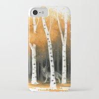 autumn iPhone & iPod Cases featuring Autumn Wolf by Freeminds