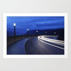Gorge Traffic. Art Print