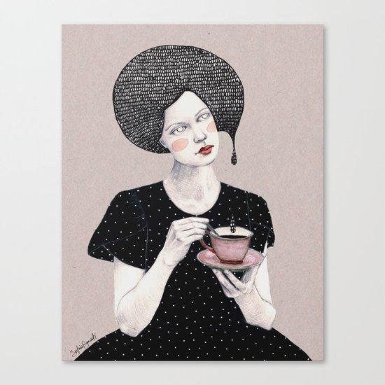 Nina in black Canvas Print