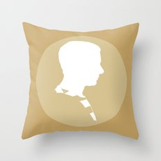 Watson in Yellow Throw Pillow