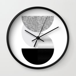 Mid-Century Modern Abstract Geometric Art Wall Clock