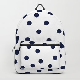 Simply Dots in Nautical Navy Backpack