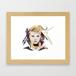 Queen Lagertha Framed Art Print