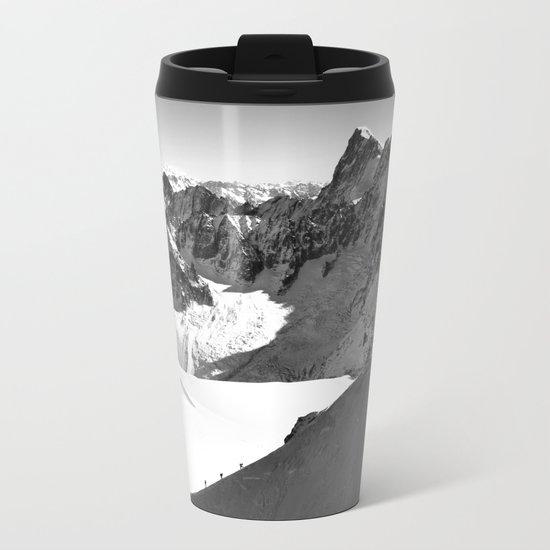 French Alps, Chamonix, France. Metal Travel Mug