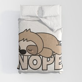Nope Funny Sloth Comforters