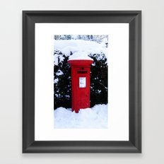 Christmas Card Time Framed Art Print