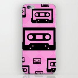 Pink & Black Cassette Tapes iPhone Skin