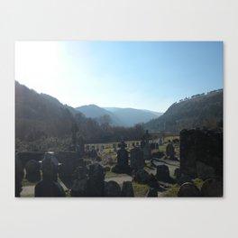 Glendalough Graveyard Canvas Print