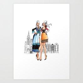 Duo de bretonnes sexy Art Print