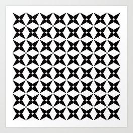 Geometric Pattern 245 (black crosses) Art Print