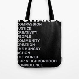 Revolt Towards (White) Tote Bag