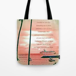 """""""Inspiration At Catalina"""" with poem: My Own Day Tote Bag"""