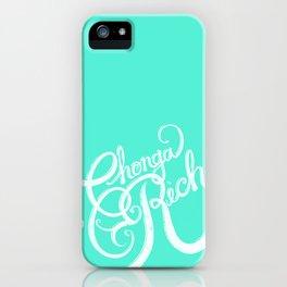 Chonga Rich - Cyan iPhone Case