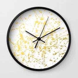 Splat White Gold Wall Clock