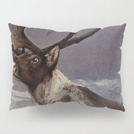 Vintage Reindeer Painting (1909) Pillow Sham