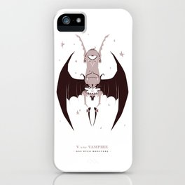 V is for Vampire iPhone Case