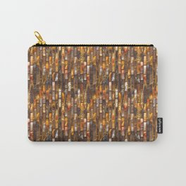 Gold Glass Tile Texture Carry-All Pouch