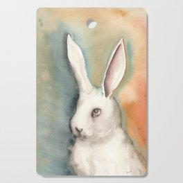 Portrait of a White Rabbit Cutting Board