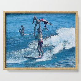 Mary & John Surfing #2 Serving Tray