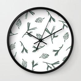 Pinecone Print Wall Clock