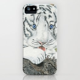 Baby White Tiger iPhone Case