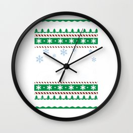 Ugly Christmas Trees Snowflakes Fast Car Wall Clock