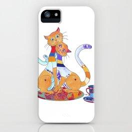 Tea for 2 Kitty Loves iPhone Case