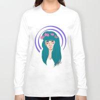 halo Long Sleeve T-shirts featuring halo girl by Amina Soneviseth