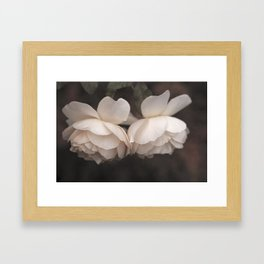 Vintage rose Framed Art Print