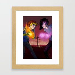 Choose Your Side Framed Art Print