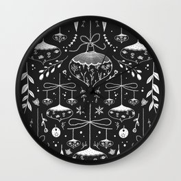 Magic Holidays - black Wall Clock